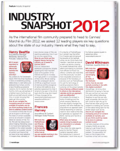 Moviescope Industry Snapshot May and June 2012