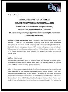 Berlin International Film Festival 2012