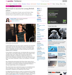 Fast track to success for young British actors | Film | The Observer